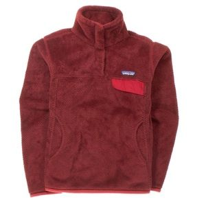 Patagonia Re-Tool Snap Sweater Red Burgundy